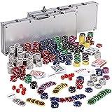 Ultimate Pokerset mit 1000 hochwertigen 12 Gramm METALLKERN Laserchips, inkl. 2x Pokerdecks, Alu...