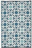 Fab Hab - Seville - Multifarben - Blau - Teppich/ Matte für den Innen- und Außenbereich (120 cm x...