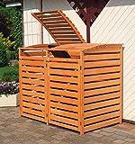 Promadino Mülltonnenbox 'Vario III' für 2 Tonnen, braun
