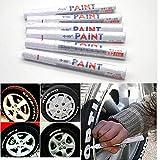 EMOTREE 6 x Weiß Reifenmarkierstift Reifenmarker Reifenmarkierungsstift Auto Motorrad KFZ Reifen...