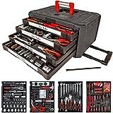TecTake 200Set von Werkzeug Trolley Kofferträger 5998–Kassette mit 4Schubladen