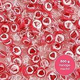 500 g Rocks Herzbonbons Rot - süße Tisch-Deko zu Hochzeit Taufe Valentinstag Muttertag Kommunion -...