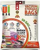 Vakuumbeutel - Vakuum Aufbewahrungsbeutel - 10 Vakuum Kleiderbeutel - Beutelgröße: Jumbo & Groß -...