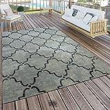 Paco Home In- & Outdoor Teppich Modern Vintage Design Terrassen Teppich Wetterfest Grau,...