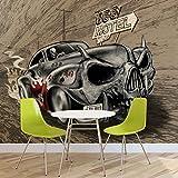 Alchemy Death Hot Rod Auto Totenkopf - Forwall - Fototapete - Tapete - Fotomural - Mural Wandbild -...