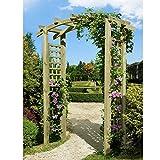 Eingangspergola 160x62x220 cm Pergola aus Holz mit Rankelementen von Gartenpirat®
