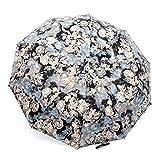 FakeFace® Poly Pongee Regenschirm Sonnenschirm 3 Faltbar Automatik Taschenschirm Kompaktschirm...