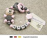 Baby Greifling Beißring geschlossen mit Namen | individuelles Holz Lernspielzeug als Geschenk zur...
