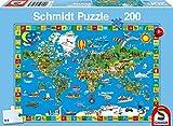 Schmidt Spiele 56118 - Deine bunte Erde, 200 Teile Puzzle