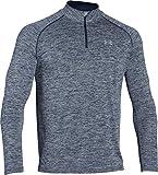 Under Armour Herren Fitness Sweatshirt UA Tech 1/4 Zip, Blau (Midnight Navy Heather), S, 1242220-411