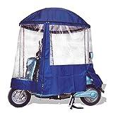 GFYWZZ Motorrad Regenschutz Komplett Geschlossen Regenschirm Regenschutz Sonnenschutz Sonnenschutz...
