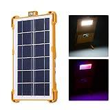 Lixada Solarbetriebene Mehrzweck-LED-Arbeitsleuchte Wiederaufladbare Außenleuchte mit USB-Anschluss...