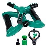 Yorbay Garten Sprinkler Automatische Rasen Wasser Sprinkler fr Bewsserung Mehrweg, 360 Grad 3- Arm...