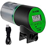 Zacro Fischfutterautomat Automatischer Fischfutterspender mit USB-Ladekabel für Aquarium, Fischtank