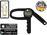 eaglefit Bluetooth Caliper, digitales Körperfett-Messgerät mit App, Fettmesszange für...