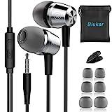 In-Ear Kopfhörer, Blukar Geräuschdämmende Ohrhörer Kopfhörer Stereo und HiFi-Klang, mit Weichen...