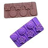 Zebulon Aled(k) süße Farbe zufällige Sonnensternformen Silikon Lutscherformen Schokolade...