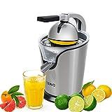 OZAVO Zitruspresse elektrisch, Orange Saftpresse mit Hebelarm, Citrus Juicer für frische...