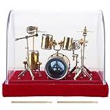 KEYREN Schlagzeug Modell Miniatur Display Musikinstrument Mini Ornamente Handwerk Wohnkultur(14cm)