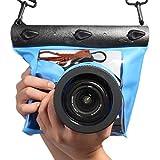 FSD-MJ Unterwasser-Kamera-Gehäuse, wasserdicht, für Canon, Nikon, DSLR, SLR, blau