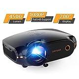 Mini Beamer, Portable Crenova Video Projektor, HD Beamer mit 200' Bildgre untersttzt 1080P,4500...