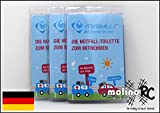 molinoRC 3X Notfall-Toilette | Wegwerf-Toilette | Urinal | Reisetoilette | Minimus Notfall-WC |...