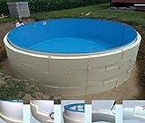 Summer Fun Beckenverschalung (kein Beton notwendig) für Rundpools mit breitem Handlauf 3,50m x...
