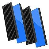 Akuoly 4 Stck Aluminium Khlkrper Khlrippen Khler-Set Heatsink mit Thermoklebeband...