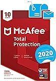 McAfee Total Protection 2020   10 Gerte   1 Jahr   PC/Mac/Smartphone/Tablet   Aktivierungscode per...