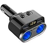 ZAK168 Cigarette Lighter Charger Dual USB Universal Cigarette Lighter Charger DC 12-24V Power...