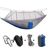 Einzel leichte Camping Hngematte,102 * 55 Zoll mit Netz, Seile,Camping Zubehr,Backpacker...