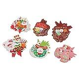 F Fityle 100Stk Muffin Cupcake Deko Set Weihnachten Kuchenstecker Weihnachtsbaum Muster -...
