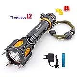 L2 Super Bright Tactical LED-Taschenlampe, Multifunktions-Verteidigungstaschenlampe, Torche Light +...