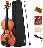 Eastar 1/2 Violine Set EVA-2 mit Lernpunkt in Fingerplatte mit Inlay mit Hardcase, Schultersttze,...
