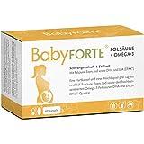 BabyFORTE Folsäure + Omega-3 – Vitamine Schwangerschaft & Stillzeit - 60 Kapseln – 17...