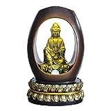 Guoqunshop Indoor Wasserfall Buddha 24' High Indoor-Brunnen Meditieren Buddha Zen-Brunnen mit...
