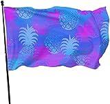 LZHANDA Garten Flaggen Viplili Flagge Fahne, Outdoor Blue and Purple Pineapples Garden Flag,...