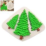Sarplle Backform Weihnachtsbaum Ausstechform Creative Silikonform Schokoladenformen für Muffin,...