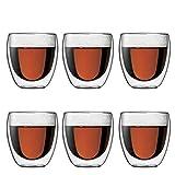 Bodum 4558-10-12 pavina 6-teiliges Glser-Set (Doppelwandig, isoliert, 0,25 liters) transparent