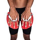 Speedo Unisex-Adult Technikpaddel Handpaddel, Lava Red/Chill Blue/Grau, S