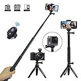 BAMOER Selfie Stick 3 in 1 Ausziehbare Mini Pocket Selfie Stick Stativ mit Wireless Remote Kamera...