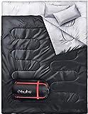 Ohuhu Schlafsack für 2 Personen Groß Doppelte Schlafsack 218 x 150cm Erwachsene Winter Schlafsack...