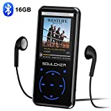 MP3 Player, 16GB Bluetooth MP3 Player mit Kopfhörer, MP3 Player Kinder mit Lautsprecher FM Radio...