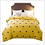 HDBUJ Bettbezug Aus Baumwolle, Schwarze, Kreisförmige Bettwäsche, EIN Bettbezug Und Zwei...