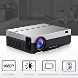 Full HD Projektor, 1920 x 1080p Projektor, tragbar, 5500 Lumen, HDMI Beamer Video LED Home Theater...