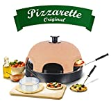 Emerio Pizzaofen, PIZZARETTE das Original, 1 handgemachte Terracotta Tonhaube, patentiertes Design,...