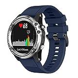 Chiic Uhrenarmband aus Silikon, Ersatz-Armbänder, Uhrenarmbänder aus Silikon, für...