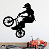 SLQUIET DIY Radfahrer Wandaufkleber Wandkunst Aufkleber Moderne Mode Wandaufkleber Kinderzimmer...