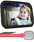 Babyspiegel fr's Auto + Sonnenschutz | Rcksitzspiegel fr Babys - Autospiegel - Rckspiegel fr's Baby