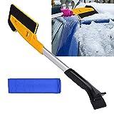 Luoistu eiskratzer mit Schneebürste Auto,2 in 1 Multifunktion ausziehbarer Eiskratzer-Schneebürste...